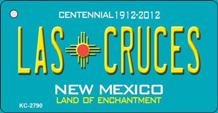 Las Cruces Teal New Mexico Wholesale Novelty Metal Key Chain KC-2790