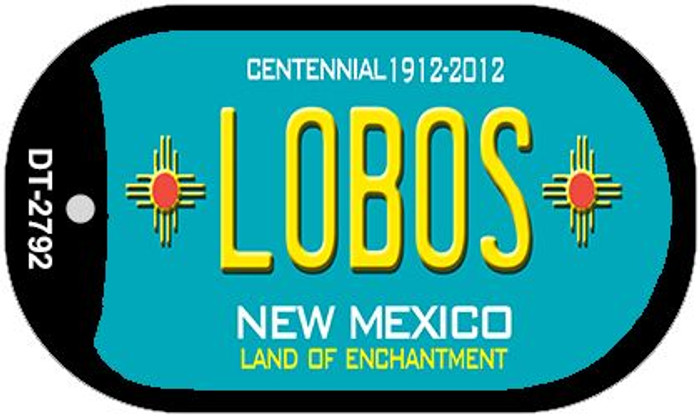 Lobos Teal New Mexico Wholesale Novelty Metal Dog Tag Necklace DT-2792