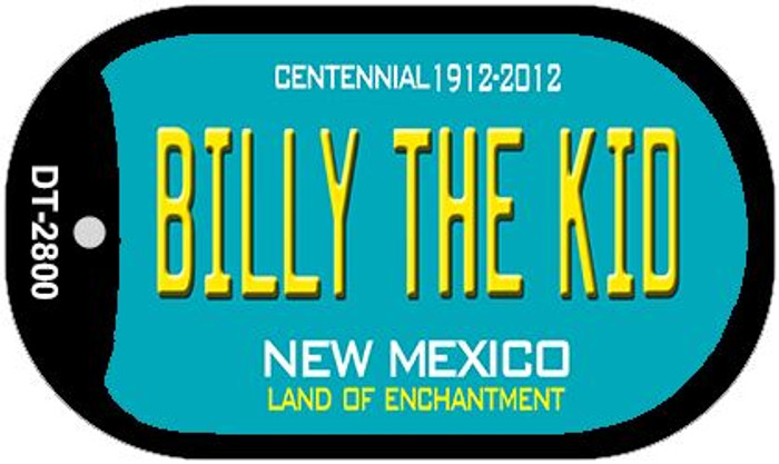 Billy The Kid Teal New Mexico Wholesale Novelty Metal Dog Tag Necklace DT-2800