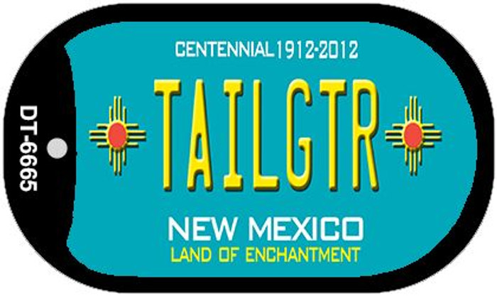 Tailgtr Teal New Mexico Wholesale Novelty Metal Dog Tag Necklace DT-6665