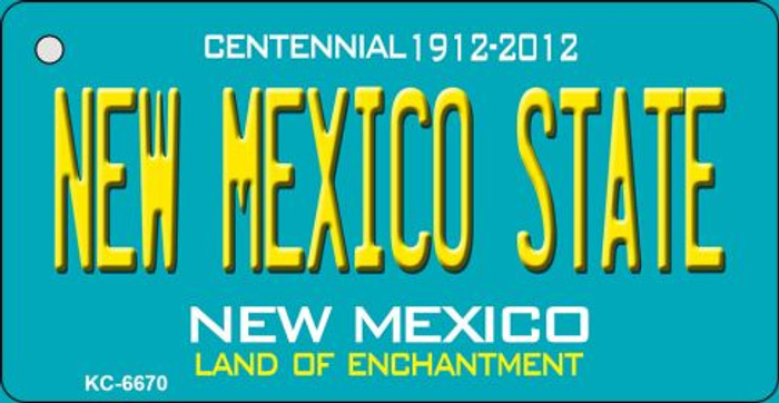 New Mexico State Teal New Mexico Wholesale Novelty Metal Key Chain KC-6670