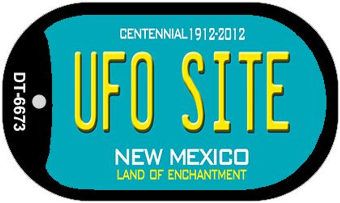 UFO Site Teal New Mexico Wholesale Novelty Metal Dog Tag Necklace DT-6673
