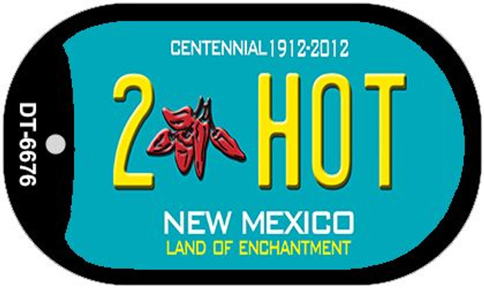 2 Hot Teal New Mexico Wholesale Novelty Metal Dog Tag Necklace DT-6676