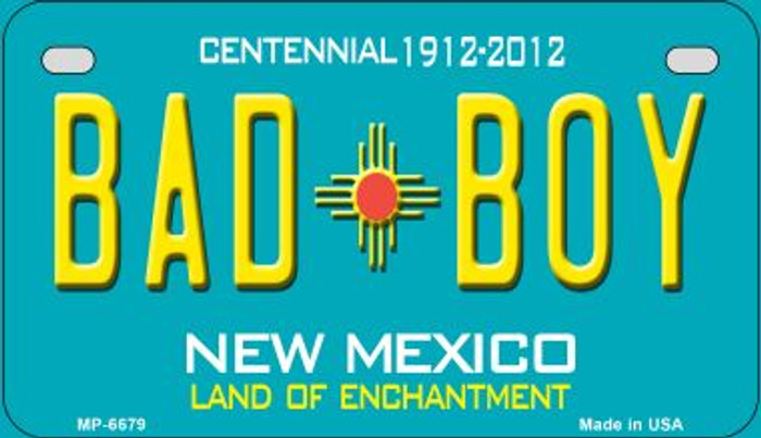 Bad Boy Teal New Mexico Wholesale Novelty Metal Motorcycle Plate MP-6679