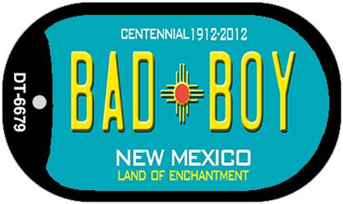 Bad Boy Teal New Mexico Wholesale Novelty Metal Dog Tag Necklace DT-6679