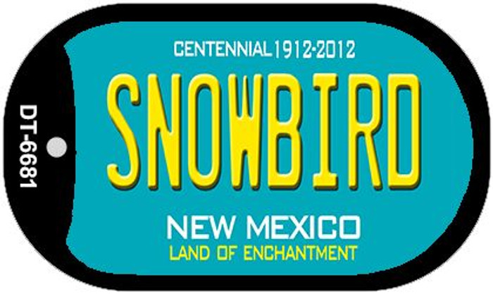 Snowbird Teal New Mexico Wholesale Novelty Metal Dog Tag Necklace DT-6681