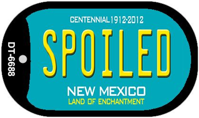 Spoiled Teal New Mexico Wholesale Novelty Metal Dog Tag Necklace DT-6688