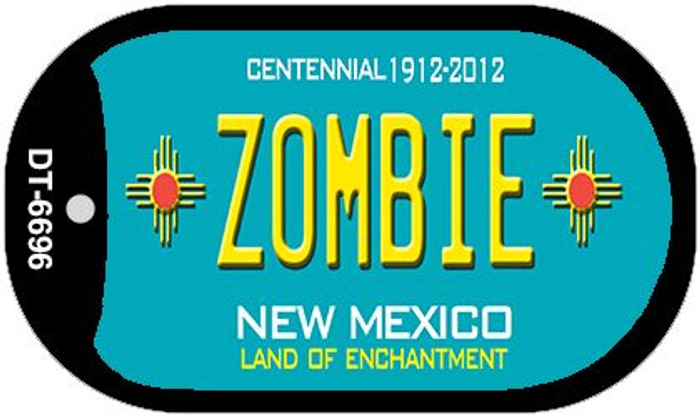 Zombie Teal New Mexico Wholesale Novelty Metal Dog Tag Necklace DT-6696