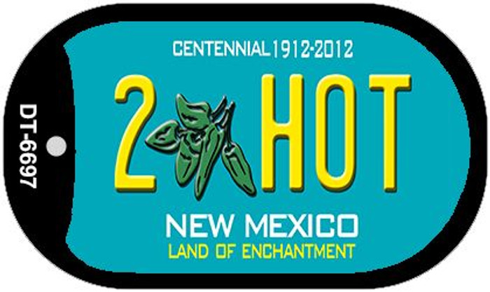2 Hot Teal New Mexico Wholesale Novelty Metal Dog Tag Necklace DT-6697