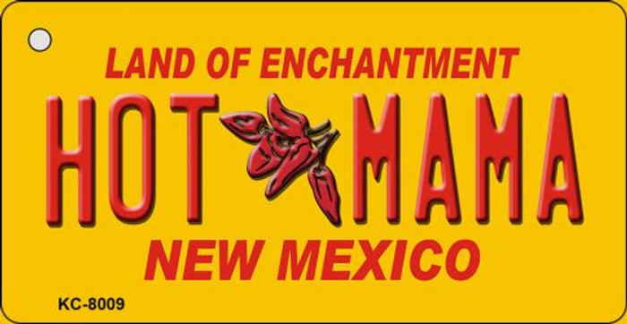 Hot Mama Yellow New Mexico Wholesale Novelty Metal Key Chain KC-8009