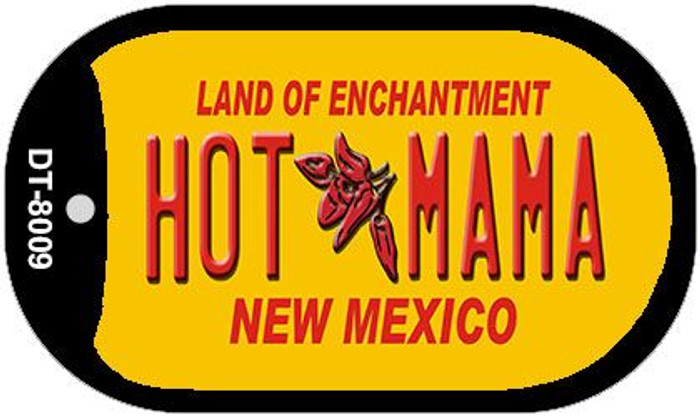 Hot Mama Yellow New Mexico Wholesale Novelty Metal Dog Tag Necklace DT-8009