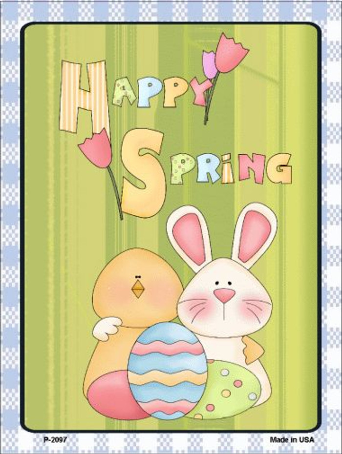 Happy Spring Wholesale Metal Novelty Parking Sign P-2097