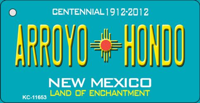 Arroyo Hondo Teal New Mexico Wholesale Novelty Metal Key Chain KC-11653