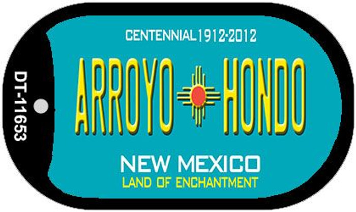 Arroyo Hondo Teal New Mexico Wholesale Novelty Metal Dog Tag Necklace DT-11653