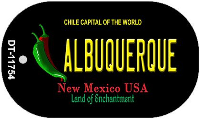 Albuquerque Black New Mexico Wholesale Novelty Metal Dog Tag Necklace DT-11754