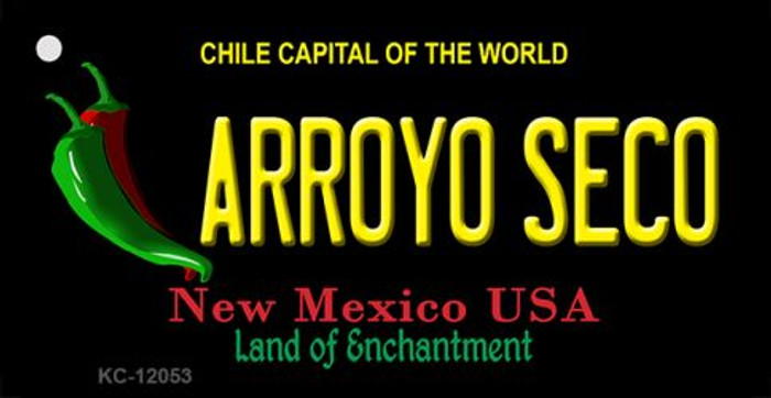 Arroyo Seco Black New Mexico Wholesale Novelty Metal Key Chain KC-12053