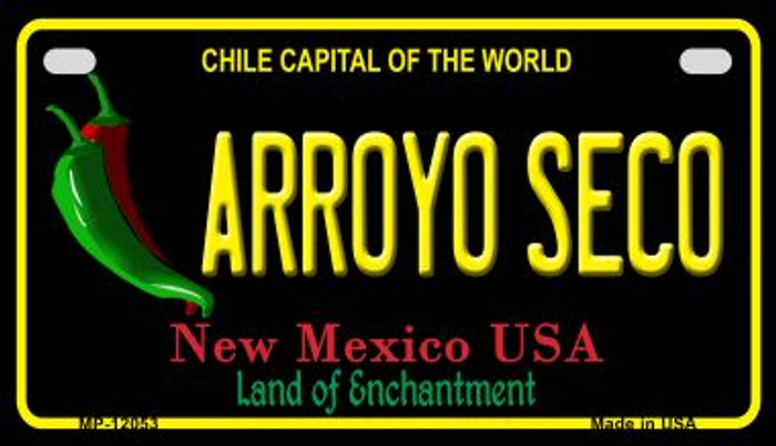 Arroyo Seco Black New Mexico Wholesale Novelty Metal Motorcycle Plate MP-12053