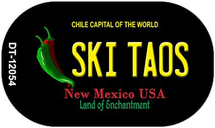 Ski Taos Black New Mexico Wholesale Novelty Metal Dog Tag Necklace DT-12054