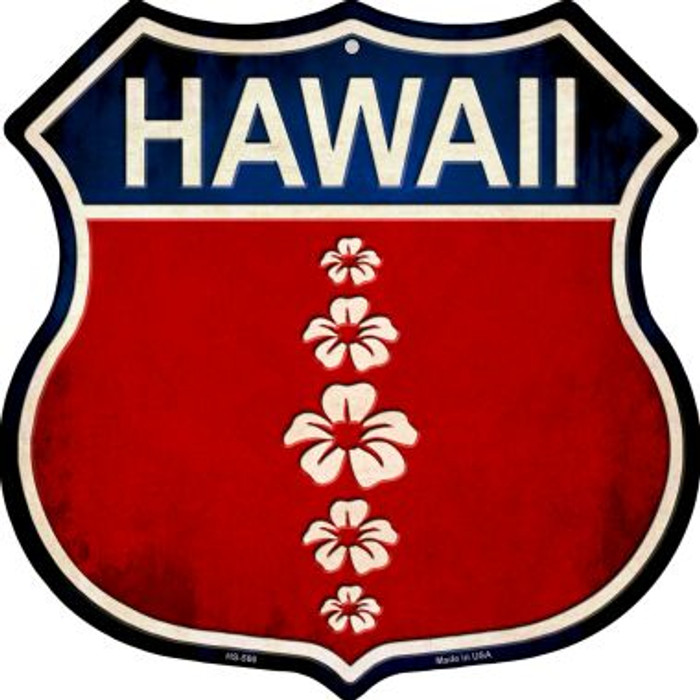 Hawaii Hibiscus Wholesale Novelty Metal Highway Shield HS-566