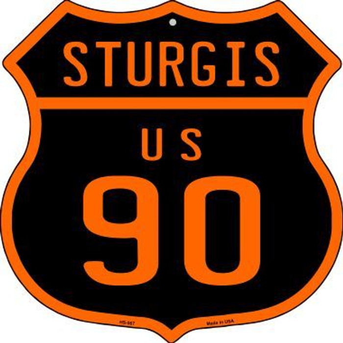 Sturgis US 90 Wholesale Novelty Metal Highway Shield HS-567