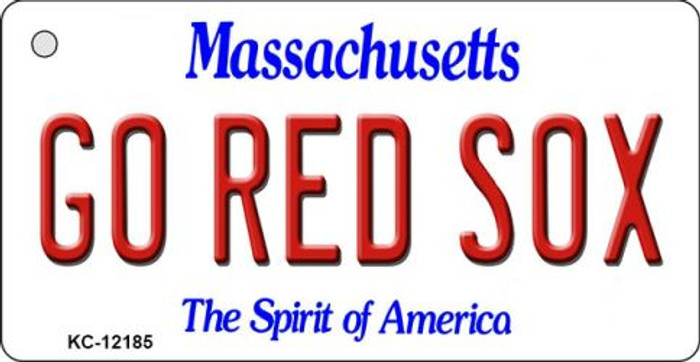 Go Red Sox Massachusetts Wholesale Novelty Metal Key Chain KC-12185