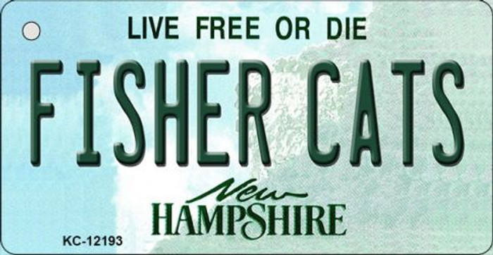Fisher Cats New Hampshire Wholesale Novelty Metal Key Chain KC-12193
