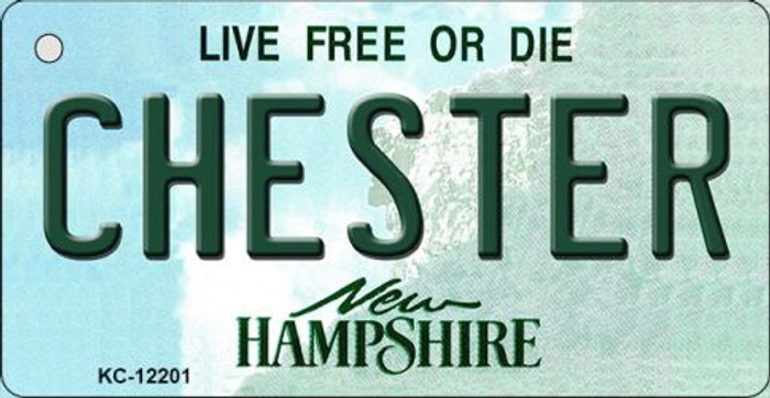 Chester New Hampshire Wholesale Novelty Metal Key Chain KC-12201