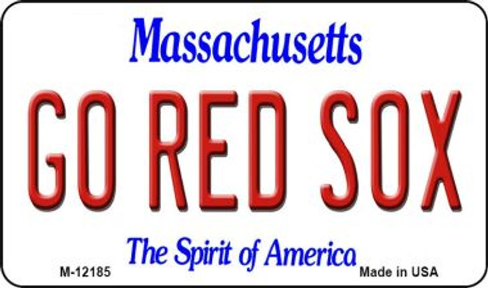 Go Red Sox Massachusetts Wholesale Novelty Metal Magnet M-12185