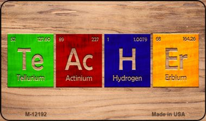 Teacher Periodic Table Wood Wholesale Novelty Metal Magnet M-12192