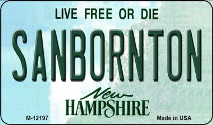 Sanbornton New Hampshire Wholesale Novelty Metal Magnet M-12197