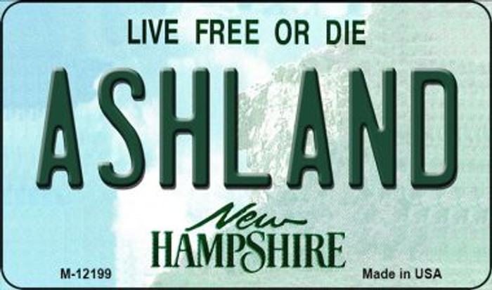 Ashland New Hampshire Wholesale Novelty Metal Magnet M-12199