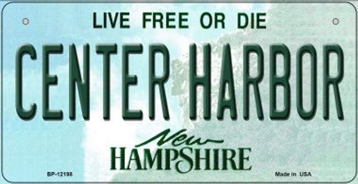 Center Harbor New Hampshire Wholesale Novelty Metal Bicycle Plate BP-12198
