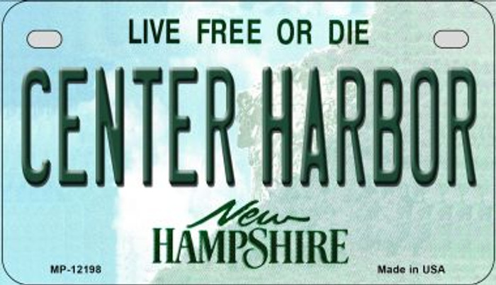 Center Harbor New Hampshire Wholesale Novelty Metal Motorcycle Plate MP-12198