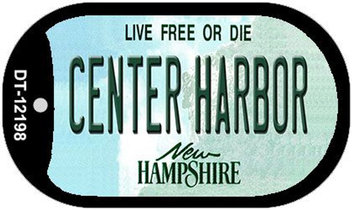 Center Harbor New Hampshire Wholesale Novelty Metal Dog Tag Necklace DT-12198