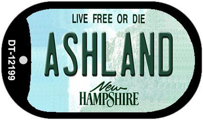 Ashland New Hampshire Wholesale Novelty Metal Dog Tag Necklace DT-12199