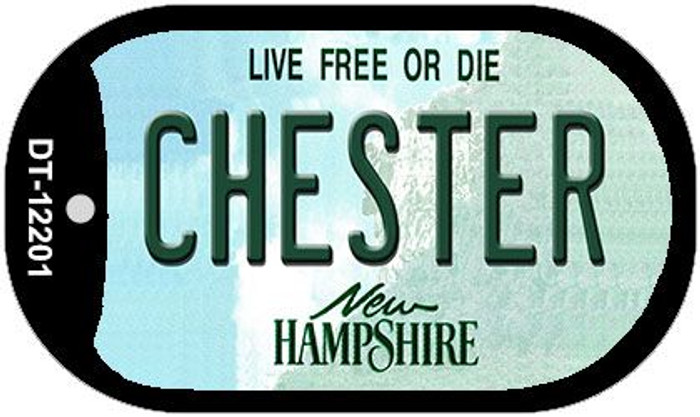 Chester New Hampshire Wholesale Novelty Metal Dog Tag Necklace DT-12201