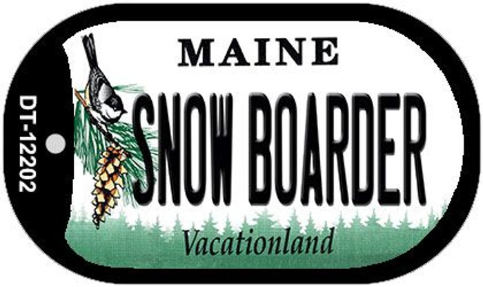 Snow Boarder Maine Wholesale Novelty Metal Dog Tag Necklace DT-12202