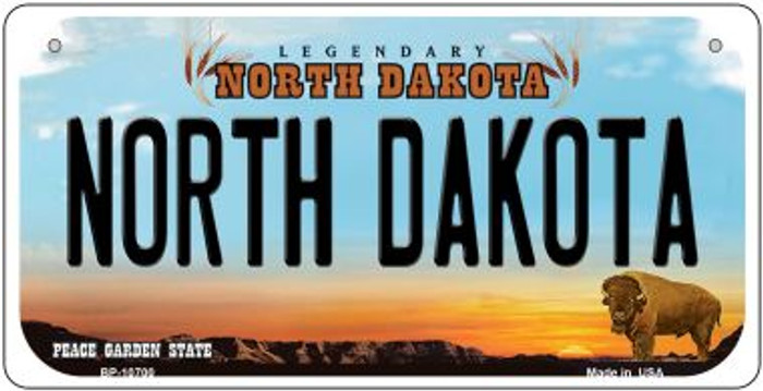 North Dakota Wholesale Novelty Metal Bicycle Plate BP-10700