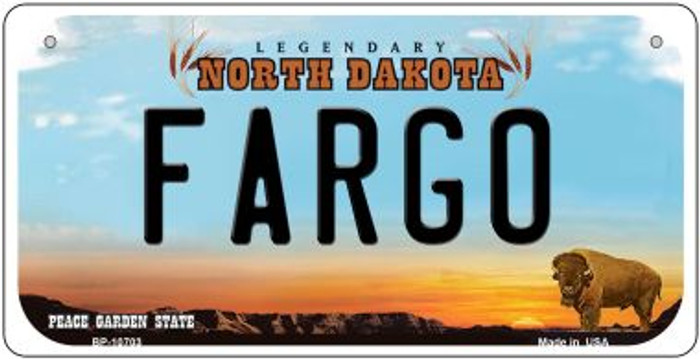 Fargo North Dakota Wholesale Novelty Metal Bicycle Plate BP-10703