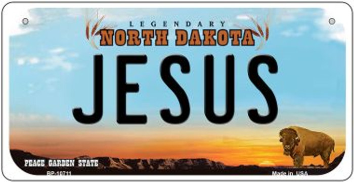 Jesus North Dakota Wholesale Novelty Metal Bicycle Plate BP-10711