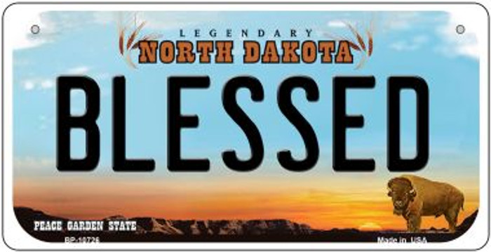 Blessed North Dakota Wholesale Novelty Metal Bicycle Plate BP-10726
