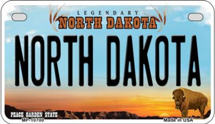 North Dakota Wholesale Novelty Metal Motorcycle Plate MP-10700
