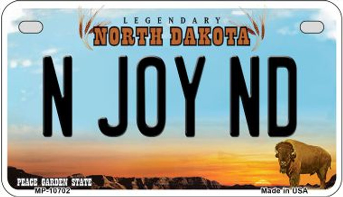 N Joy ND North Dakota Wholesale Novelty Metal Motorcycle Plate MP-10702