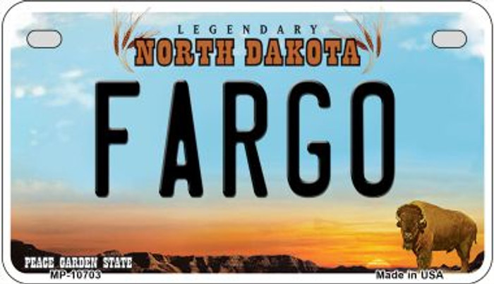 Fargo North Dakota Wholesale Novelty Metal Motorcycle Plate MP-10703