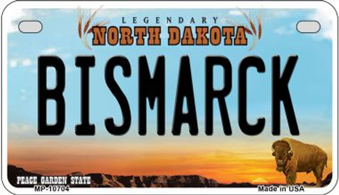 Bismarck North Dakota Wholesale Novelty Metal Motorcycle Plate MP-10704