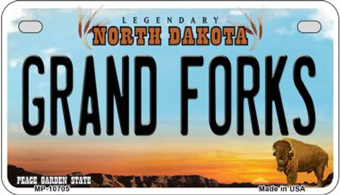 Grand Forks North Dakota Wholesale Novelty Metal Motorcycle Plate MP-10705