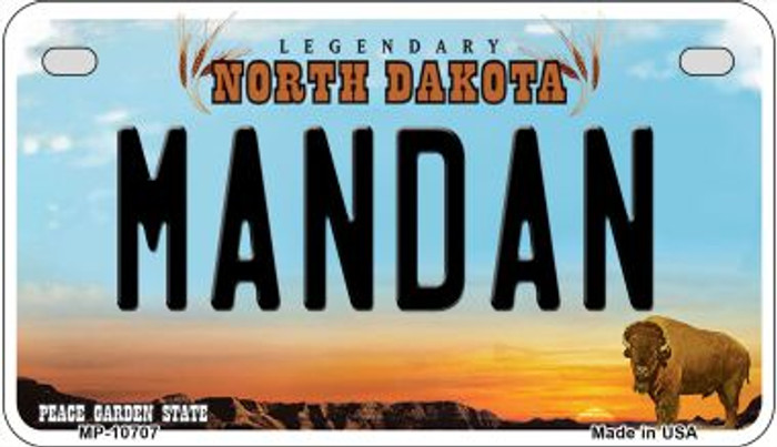 Mandan North Dakota Wholesale Novelty Metal Motorcycle Plate MP-10707