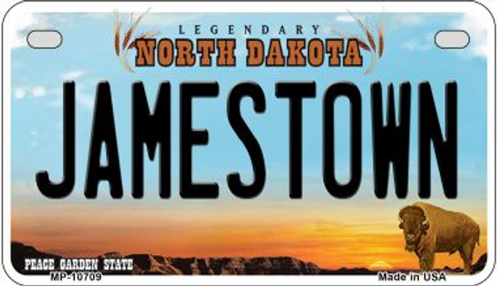 Jamestown North Dakota Wholesale Novelty Metal Motorcycle Plate MP-10709