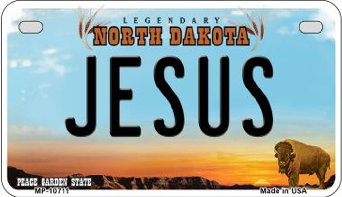Jesus North Dakota Wholesale Novelty Metal Motorcycle Plate MP-10711