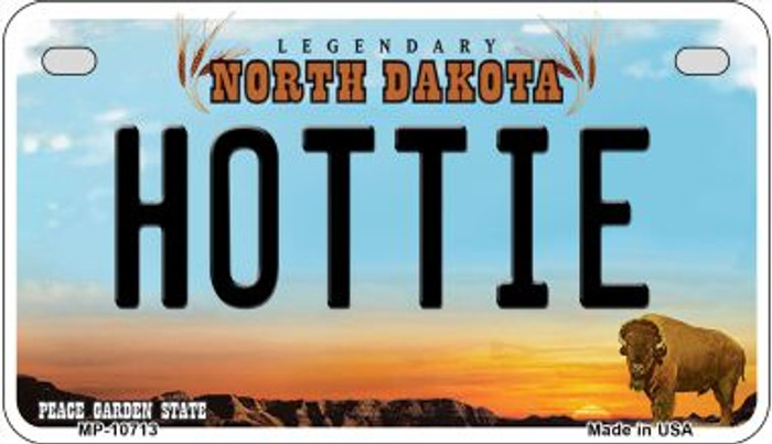 Hottie North Dakota Wholesale Novelty Metal Motorcycle Plate MP-10713